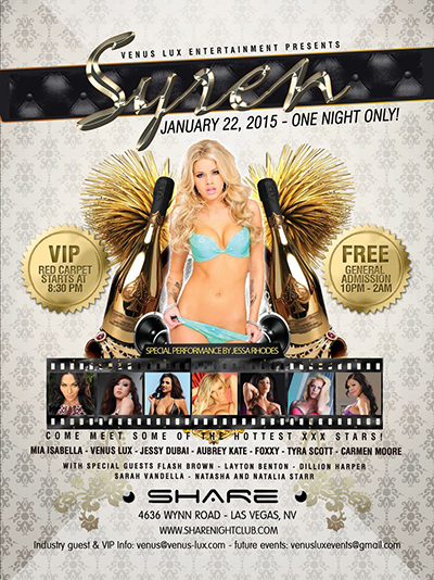 Venus Lux Syren party poster