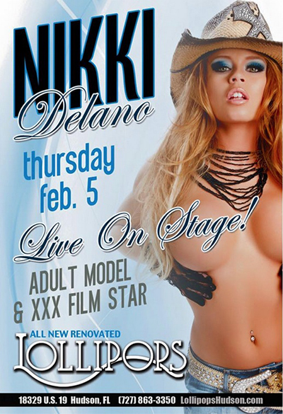 Nikki Delano flyer for Lollipops, Florida