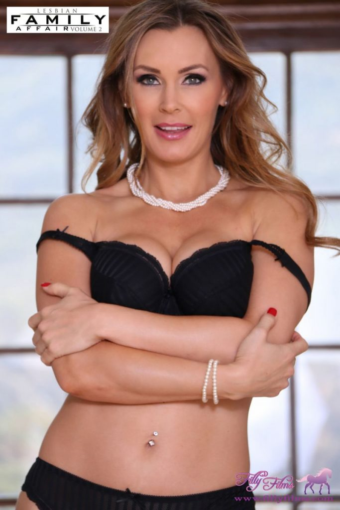 Tanya Tate in black lingerie