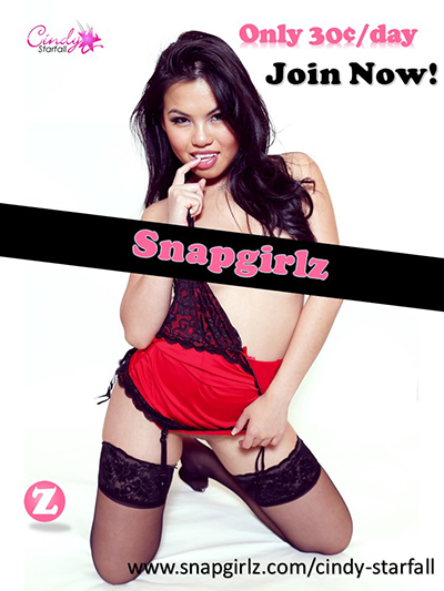 CINDY STARFALL Offers Store Discount To SnapGirlz Sign Ups