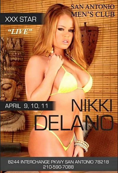 Spicy Latina Adult Star Nikki Delano is coming to town to feature for three big nights.