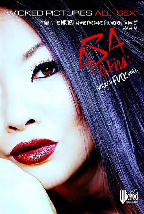 Adult Movie Review: Asa Akira: Wicked Fuck Doll - Front cover