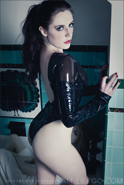 Samantha Bentley black latex