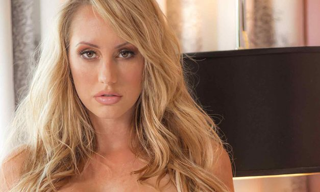 Brett Rossi featured in Hustler magazine