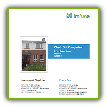 Sample - Property Check Out Comparison Report