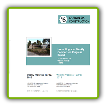 Imfuna Sample Report - Weekly Comparison Progress Report