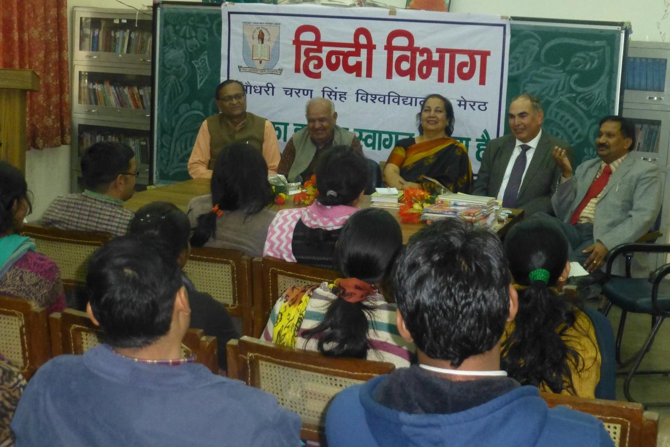 Jai Verma was honoured chief guest at Meerut University 2