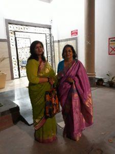 With Sarita Sharma