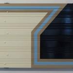 construccion modular no. 1 2015 madera pintada y metal 90 cm x 65 cm x 8.5 cm