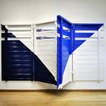 construccion geometrica no.1 2012 madera, hierro y pintura 178 x 323 x 111.5 cm.