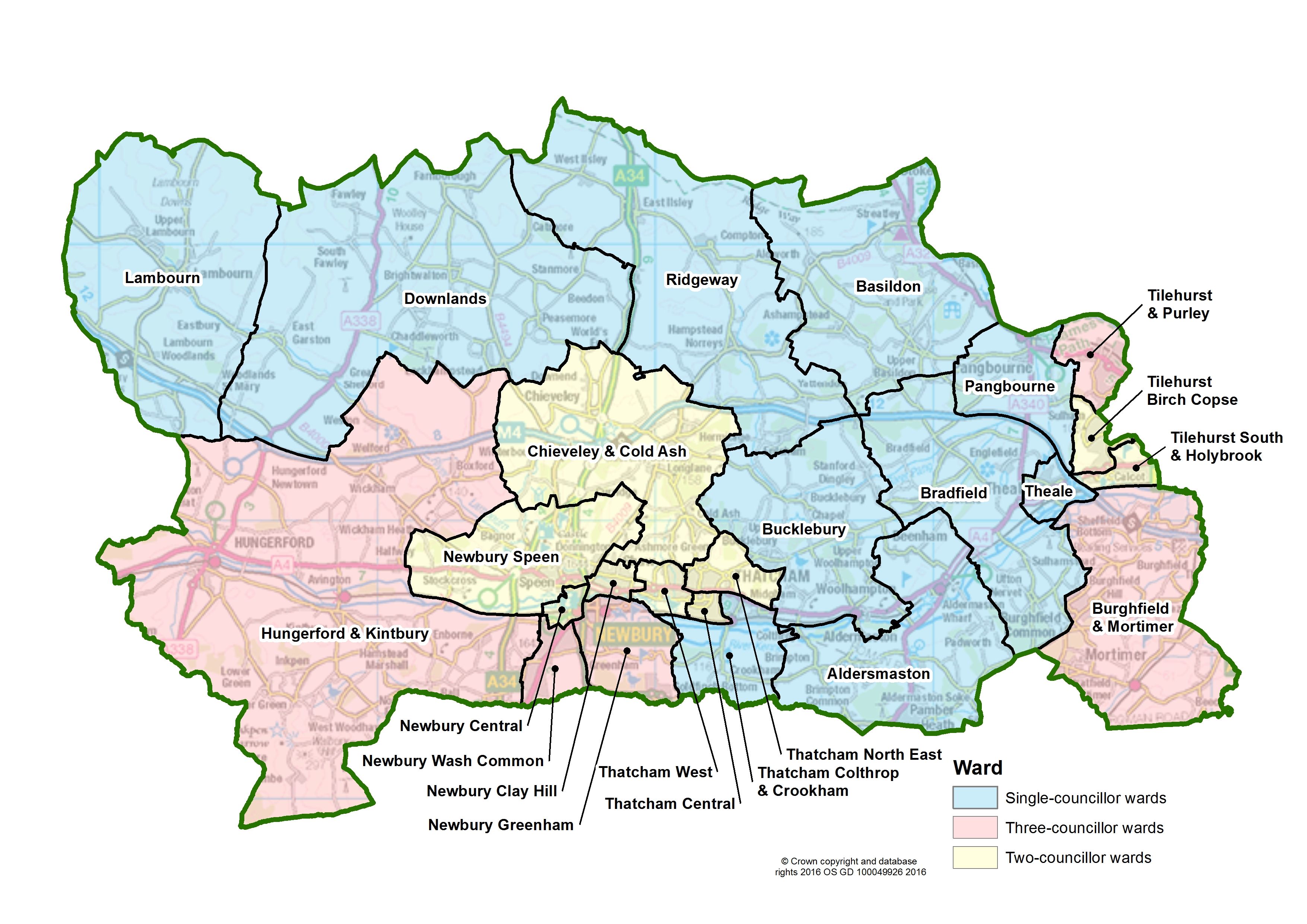 West Berkshire Council Summary Map