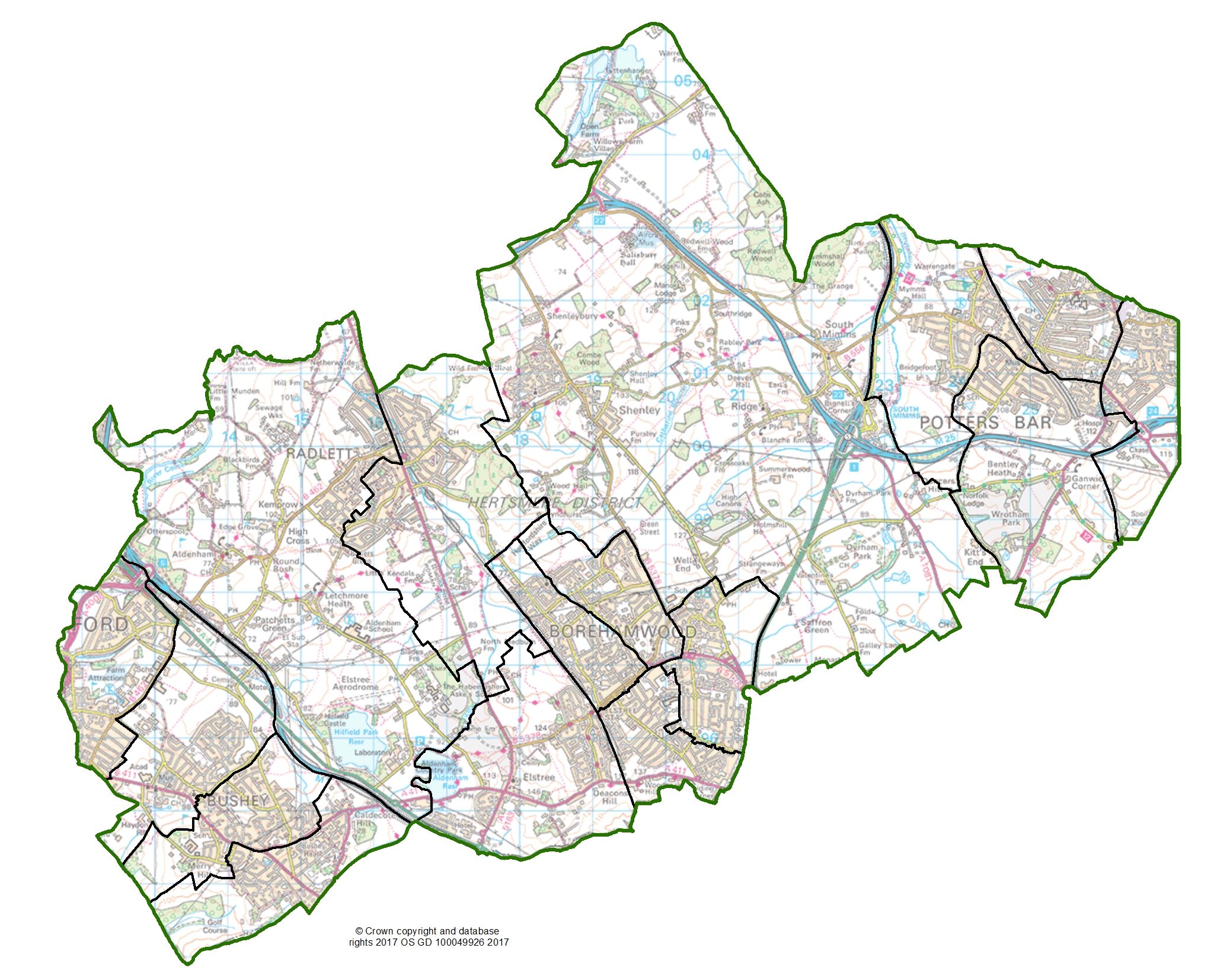 Final recommendations ward map for Hertsmere