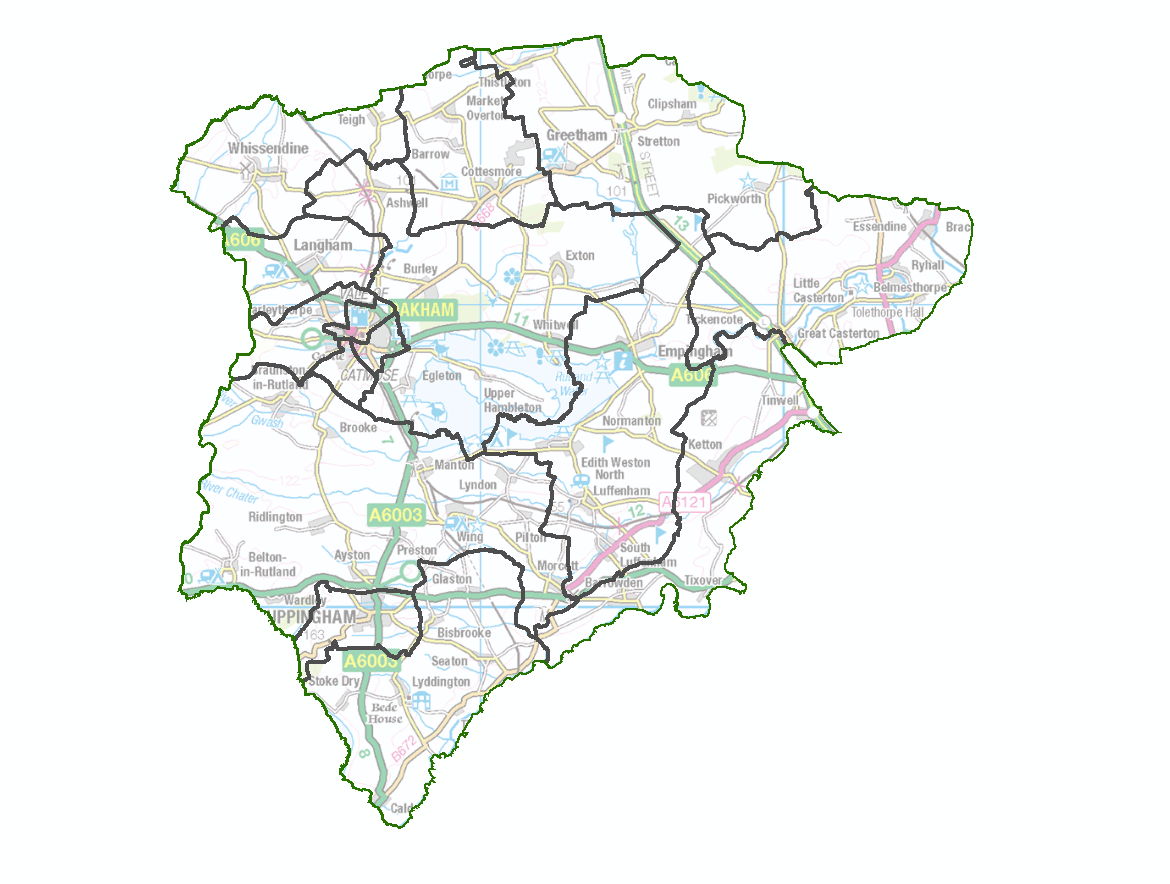 Draft recommendations ward map for Rutland