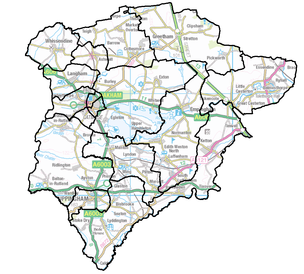 Council ward boundaries in Rutland are set to change. Find and use this image of the current wards here