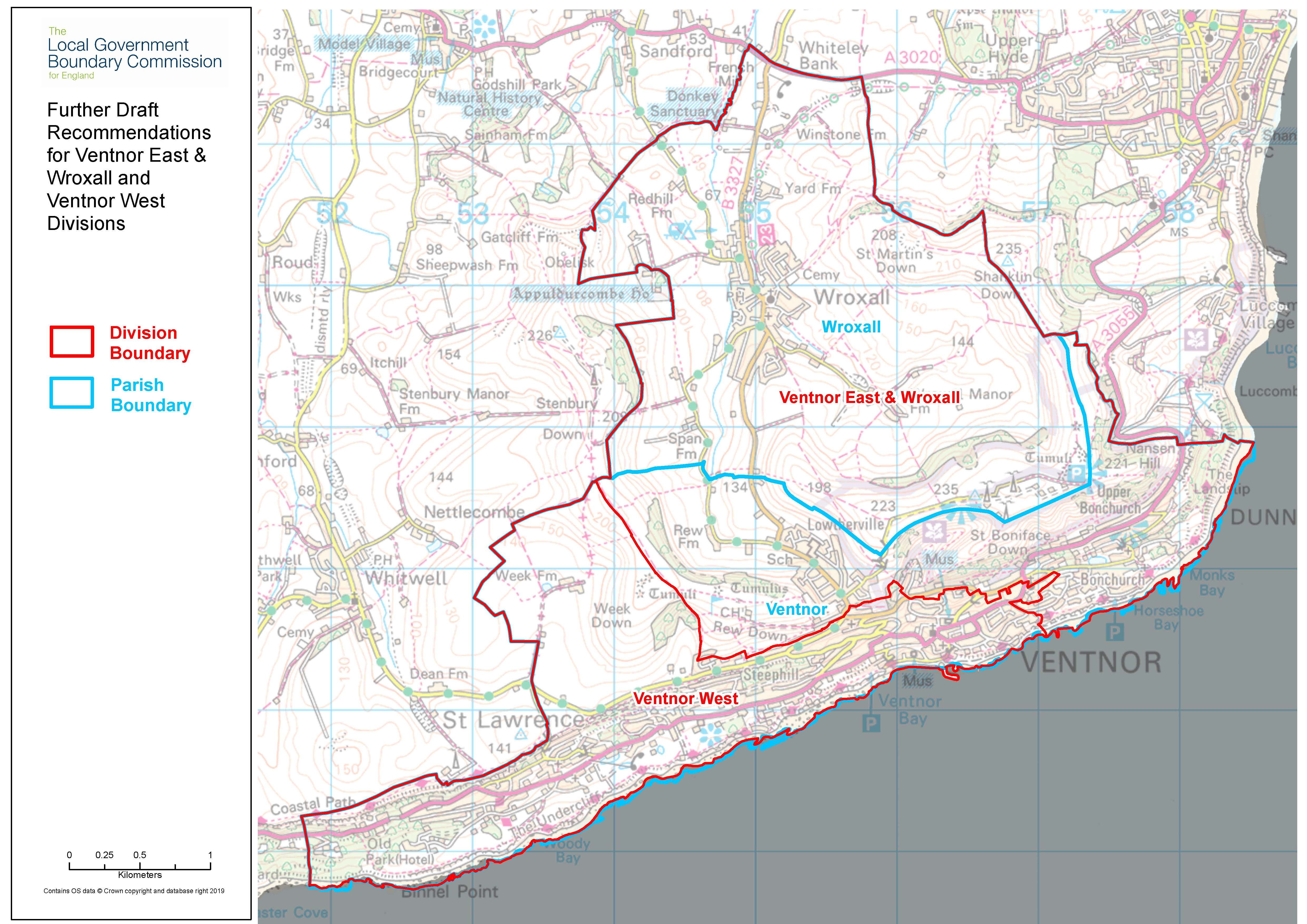 Further draft recommendation mapping for Ventnor and Wroxall