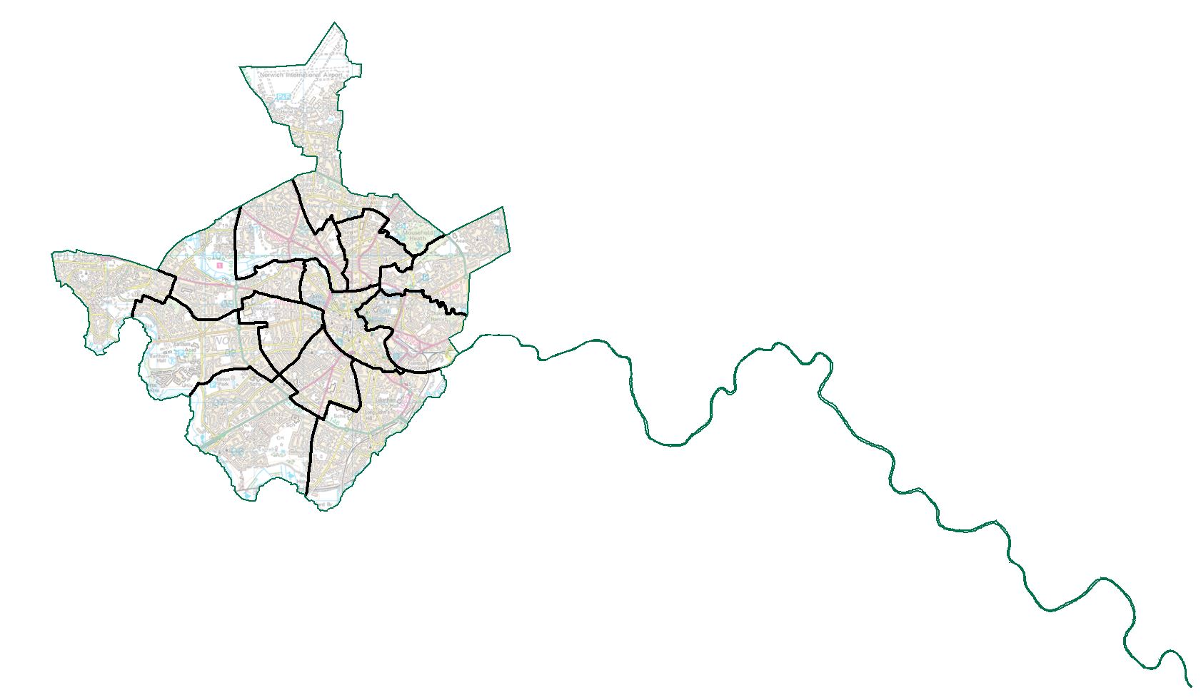 Draft recommendations map for Norwich