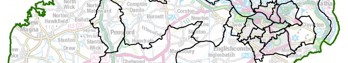 Bath and North East Somerset map