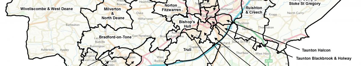 Taunton Deane Map