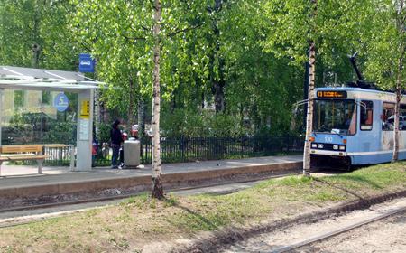 A tram stop in Grünerløkka, Oslo