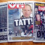 Norwegian newspaper headlines about the Oslo terror attacks