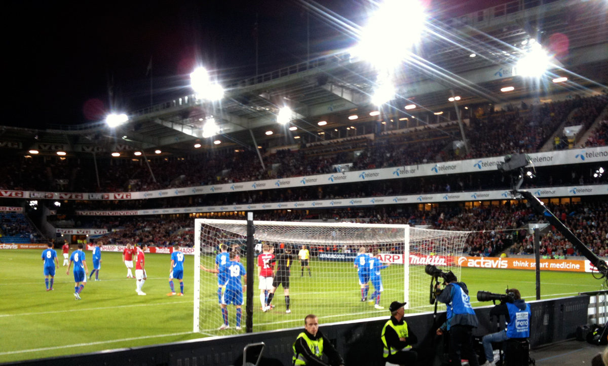 Norway v Iceland at the Ullevaal Stadium
