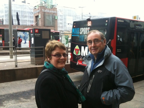 Mum and Dad on Jernbanetorget, Oslo