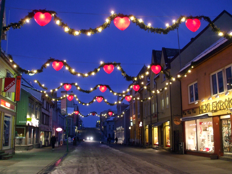 Christmas time in Tromsø, Norway