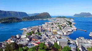 Bird's Eye View of Ålesund