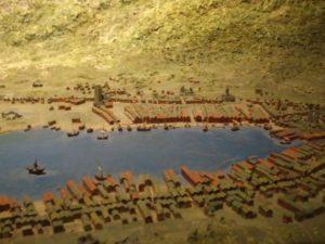 A model of Bergen in 1580