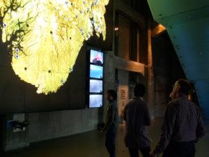 Inside the Rockheim foyer