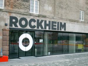 The entrance to Rockheim Museum