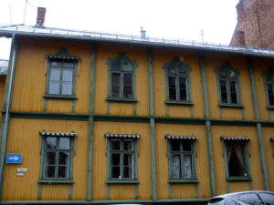 Yellow wooden building
