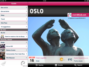 Visit Oslo App home page