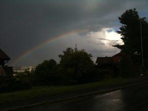 Rainbow over Trondheim