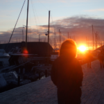 Oslo sunset on Aker Brygge