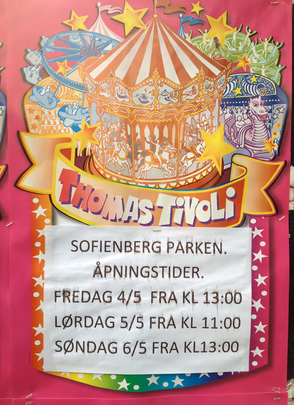 Thomas Tivoli circus poster from Oslo