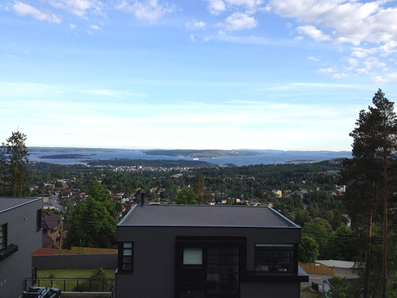 View of Oslo from Besserud T-Bane Station