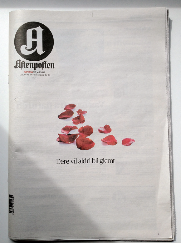 Aftenposten newspaper cover