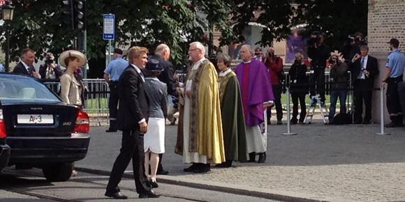 King Harald at Oslo Cathedral
