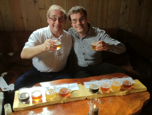 Me and Dad at local brewpub in Flåm