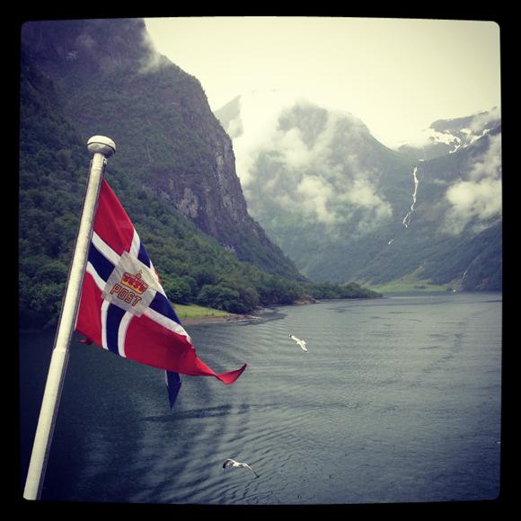 Sailing the Nærøyfjord, Norway
