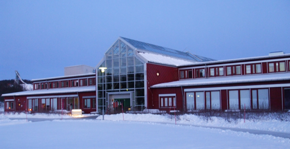 University of Tromsø campus in the winter daylight