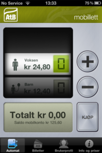 Trondheim City Mobile Bus Ticket