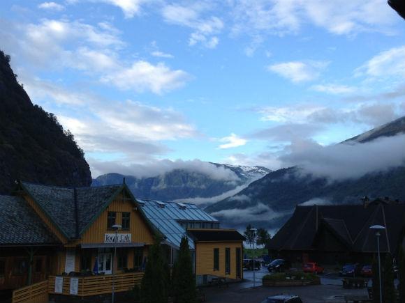 View from Flåm Ferdaminne balcony
