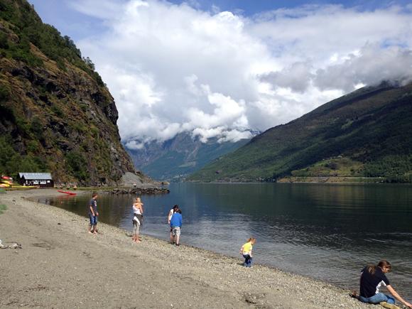 Aurlandsfjord on a sunny day