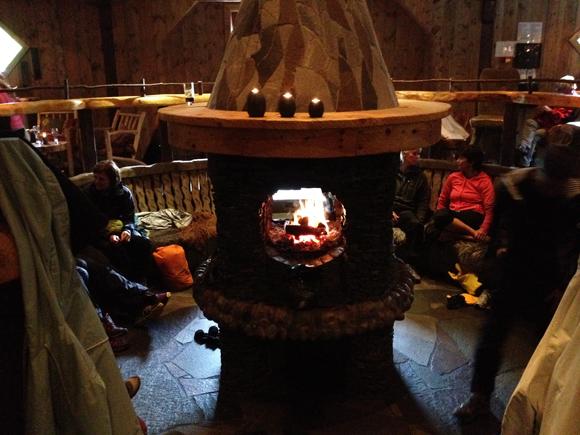 Inside the Ægir Brewpub in Flåm