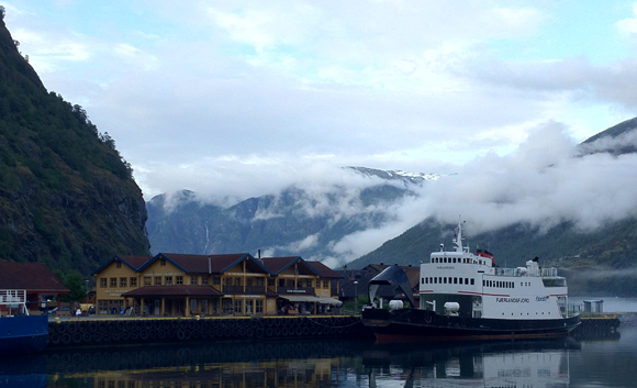 A view across Flåm, Norway