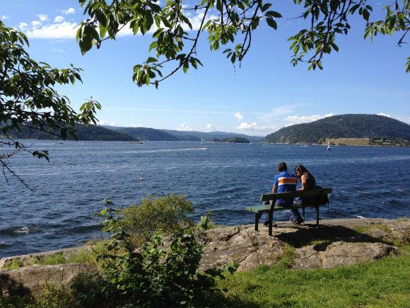 Admiring the Oslofjord