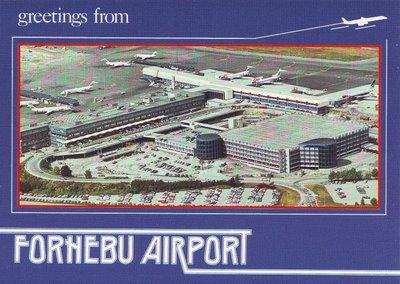 Retro Fornebu Airport postcard
