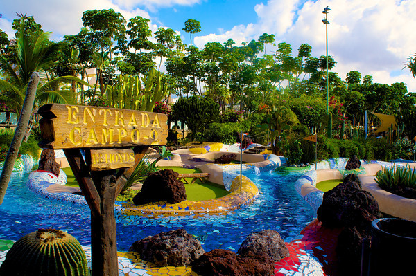 Crazy Golf in the Canary Islands